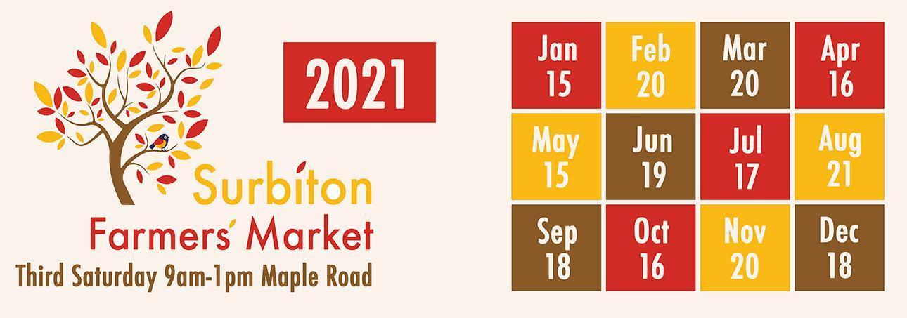 Surbiton Farmer's Market dates 2021